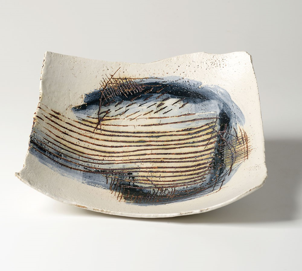 5. 'Field Lines' square dish - Laurel Keeley
